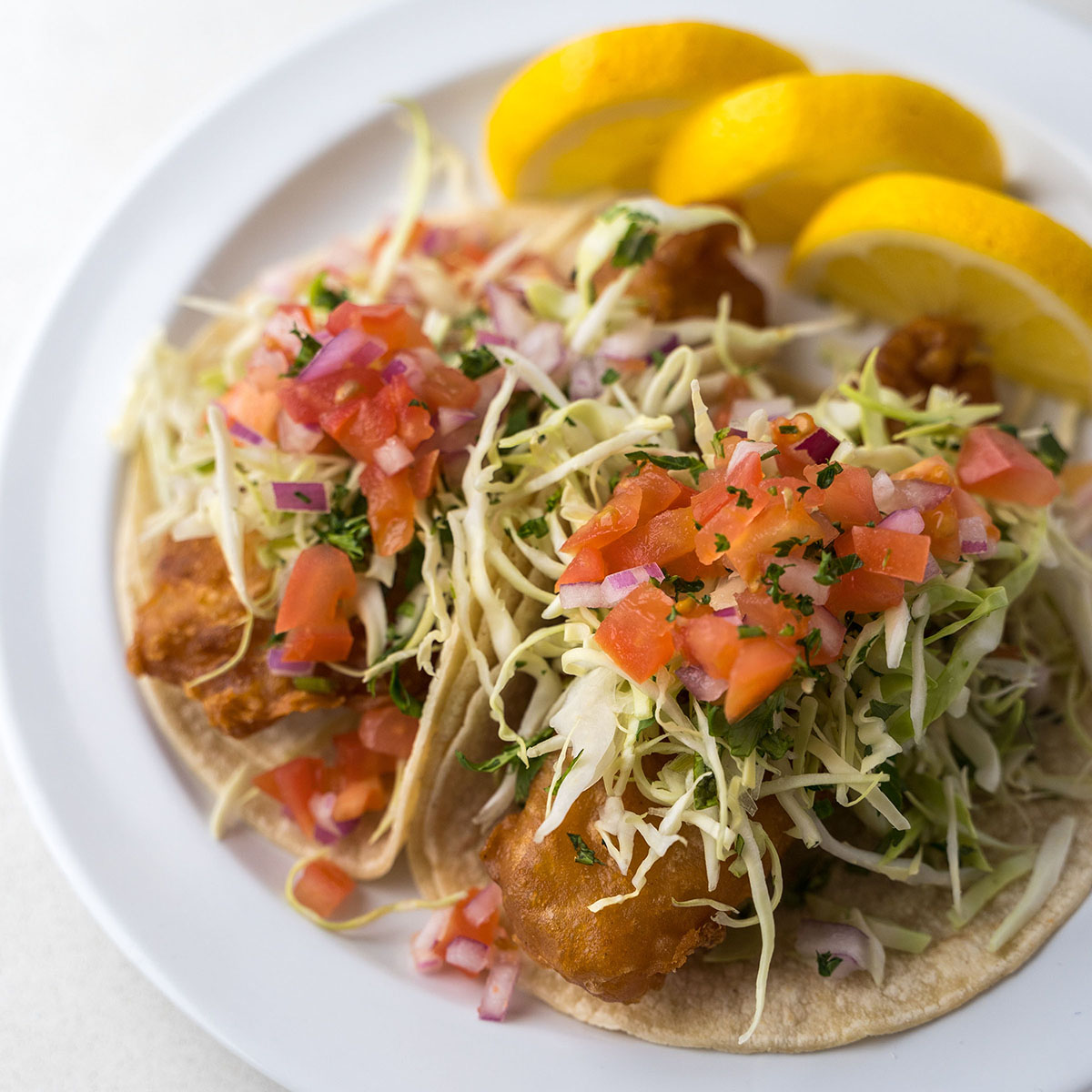 best healthy Mediterranean fish tacos