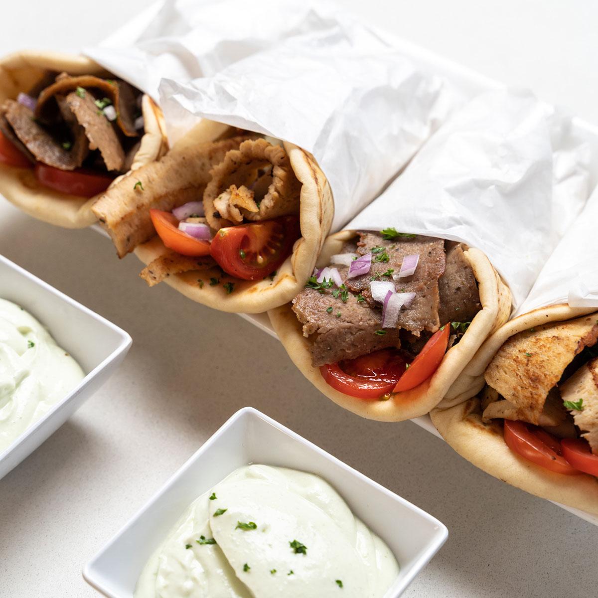 Mediterranean diet beef and lamb gyros